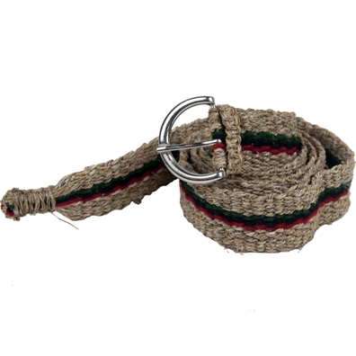 African Stripe Hemp Belt