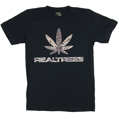 Seven Leaf Real Trees Black T-Shirt - Men's