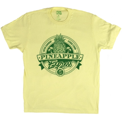 Seven Leaf Pineapple Express Strain Yellow T-Shirt - Men's
