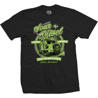 Seven Leaf Sour Diesel Strain Black T-Shirt – Men's