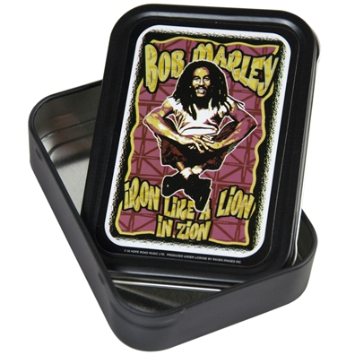 Bob Marley Iron Like a Lion Stash Tin – Large