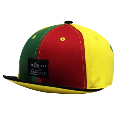Rasta Stripe Short Peak Visor Hat