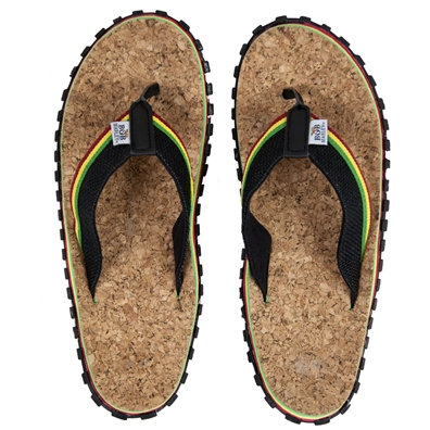 Bob Marley Cork/Hemp Black Sandals – Men's