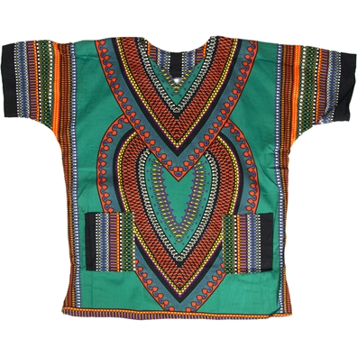 Dark Green Heart of Africa Dashiki