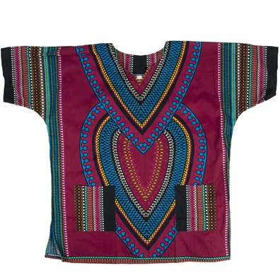 Burgundy Heart of Africa Dashiki