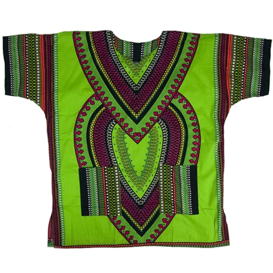 Lime Heart Of Africa Dashiki