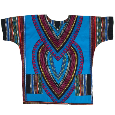 Light Blue Heart of Africa Dashiki