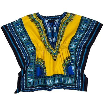 Gold Traditional Elastic Dashiki - Women's