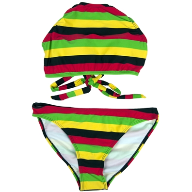 High Neck Rasta Bikini