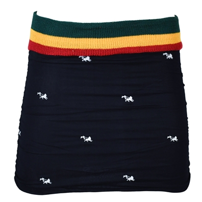 Rasta and Reggae Side Ruffled Cotton Skirt