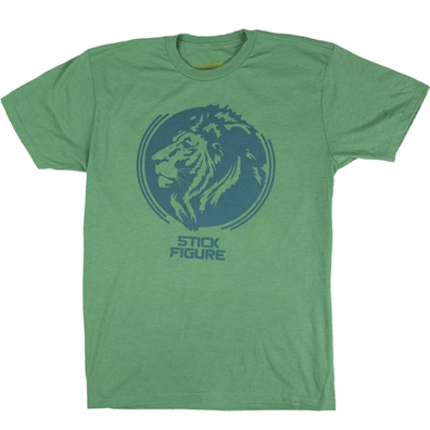 Stick Figure Green Lion T-Shirt - Men's