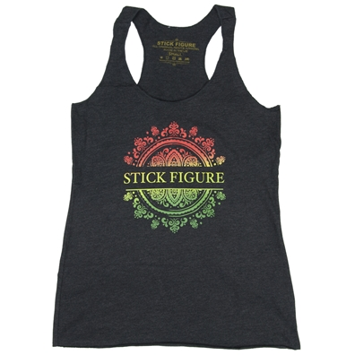Stick Figure Vines Gray tank Top - Women's