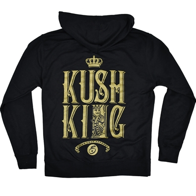 Seven Leaf Kush King Zip Hoodie - Men's