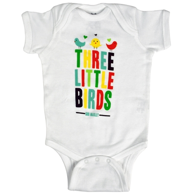 Bob Marley 3 Little Birdies Infant Creeper - White