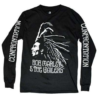Bob Marley Confrontation Black Long Sleeve Tee - Mens
