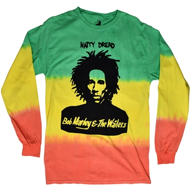 Bob Marley Natty Dread Long Sleeve TieDye T-Shirt - Men's