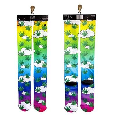 Cloud 9 Marijuana Leaf Knee High Socks