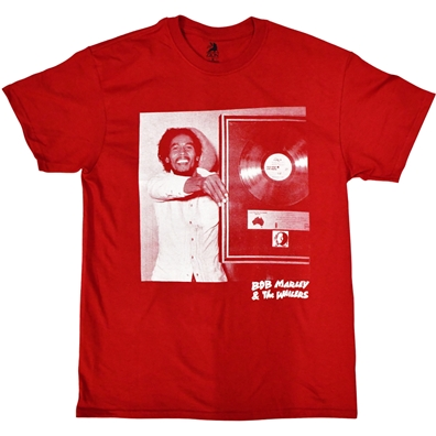 Bob Marley Goes Platinum Red T-shirt - Men's