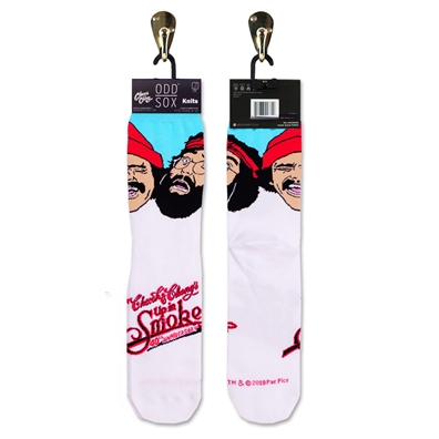 Cheech & Chong Up in Smoke 40th Anniversary White Socks