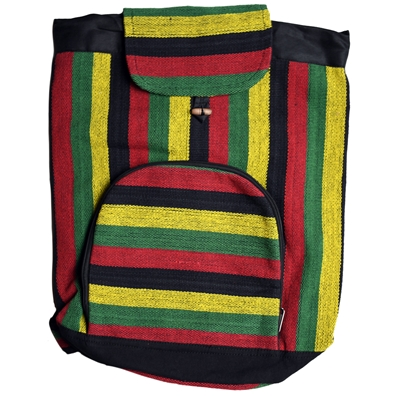 "Rasta Striped 14"" x 18"" Backpack"
