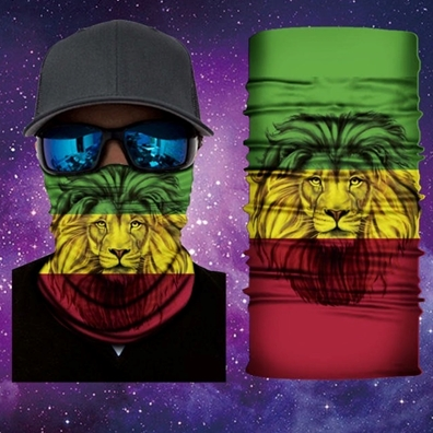 Rasta Lion of Judah Face Mask Gaiter Bandana