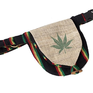 Rasta and Reggae Weed Leaf Hip Fanny Pack
