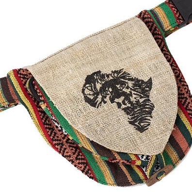 Rasta African and Reggae Lion Hip Fanny Pack