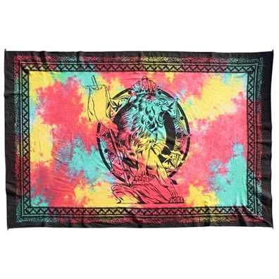 Tie Dye Lion of Judah Tapestry