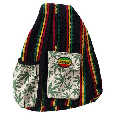 Rasta and Weed Leaf Shoulder Sling Bag