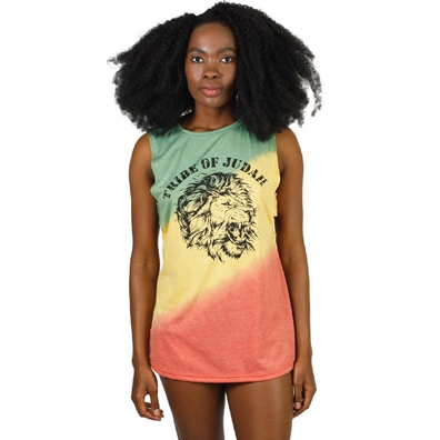 Rasta and Reggae Tribe of Judah Tie Dye Tank Top - Women's