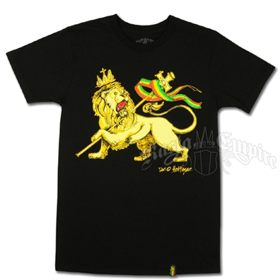 Conquering Lion of Judah Men's Black T-Shirt