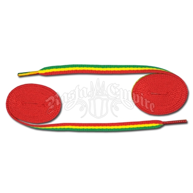 Rasta Stripe Shoelaces - Thin