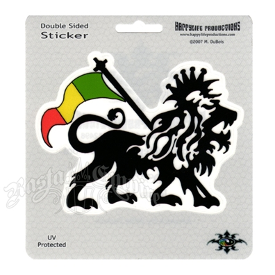 Rasta Lion Window Sticker