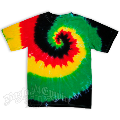 Rasta Spiral Tie Dyed Short Sleeve T-Shirt - Men's SS