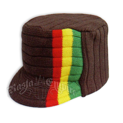 rasta4real Lion of Judah Black RASTA VISOR Hat