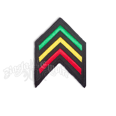 Rasta Army Stripes Shield Patch