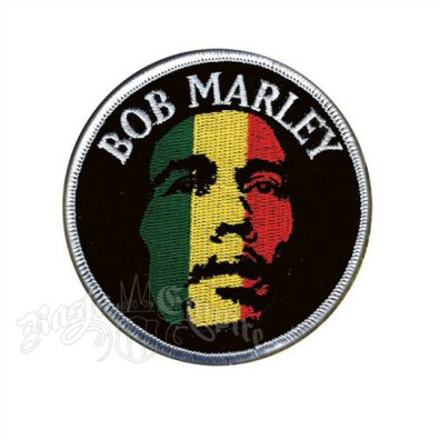 Bob Marley Face Round Patch