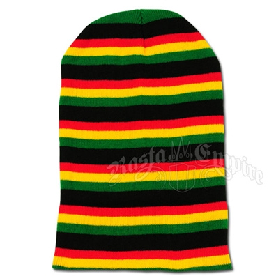 Super Long Beanie - Black/Rasta