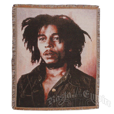Bob Marley Short Dreads Woven Throw Blanket