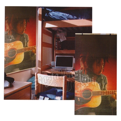 bob marley strumming bamboo rollup window blind