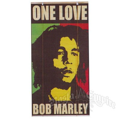 bob marley one love bamboo window shade