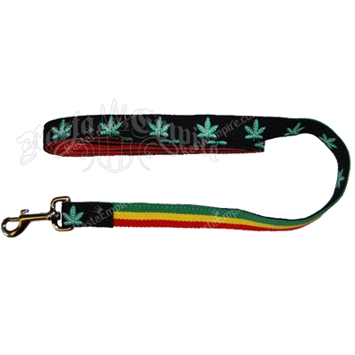 Rasta and Pot Leaf Dog Leash