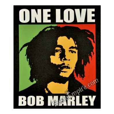 "Bob Marley One Love Canvas Painting 27"" x 20"""