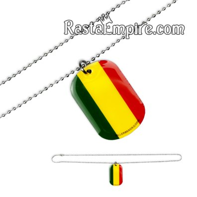 Rasta Dog Tag Necklace