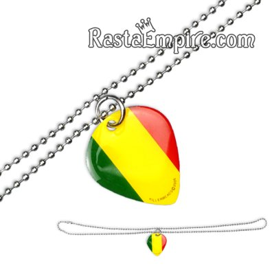 Rasta Guitar Pick Necklace