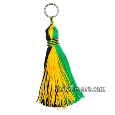 Jamaica Tassel - Black, Gold & Green - Small