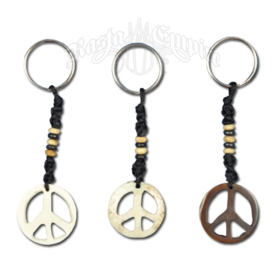 Bone Peace Sign Keychain