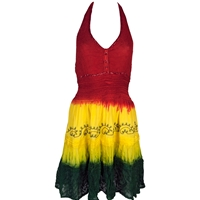 Popular Rasta Dresses Reggae Long Wave Dress  RastaEmpirecom