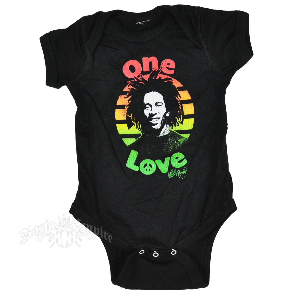 Bob Marley Peace Sign Swirls Yellow Toddler Skirt New Official One Love Baby