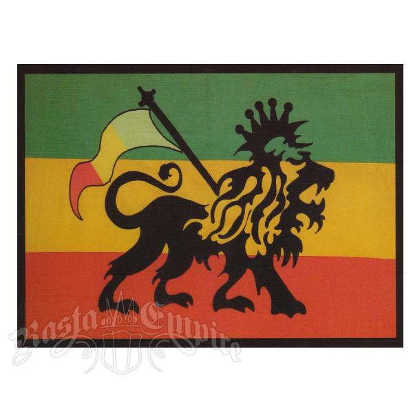Rasta Lion With Dreads Rasta lion tapestry